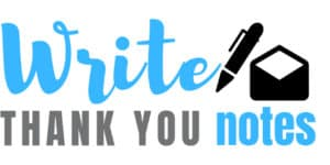 write thank you notes logo
