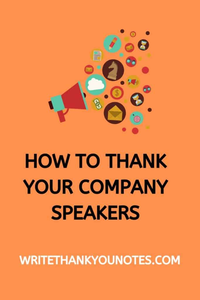 how to thank your company speakers with a written thank you note