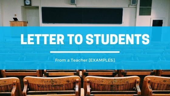 letters to students from teachers