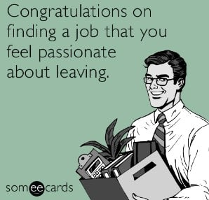 Congratulations on finding a job that you feel passionate about leaving.